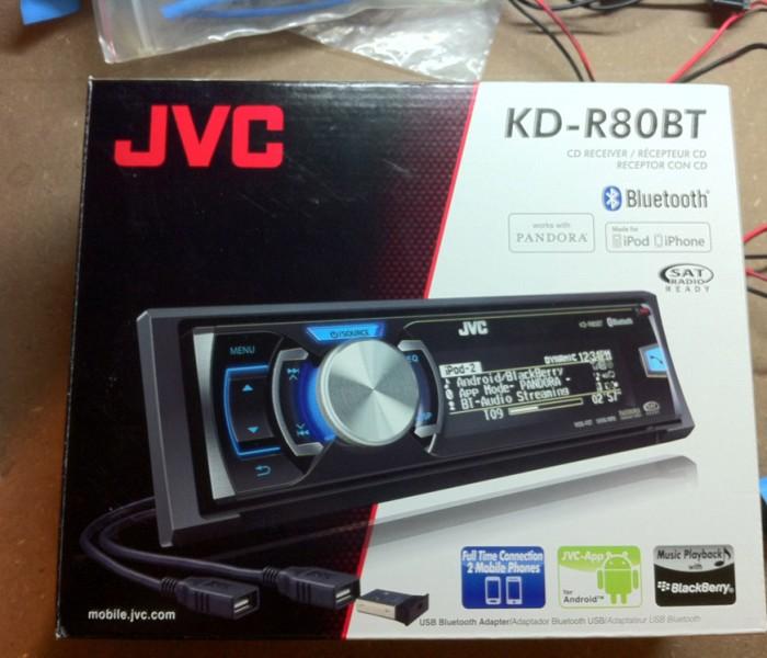 JVC KD-R80BT Install